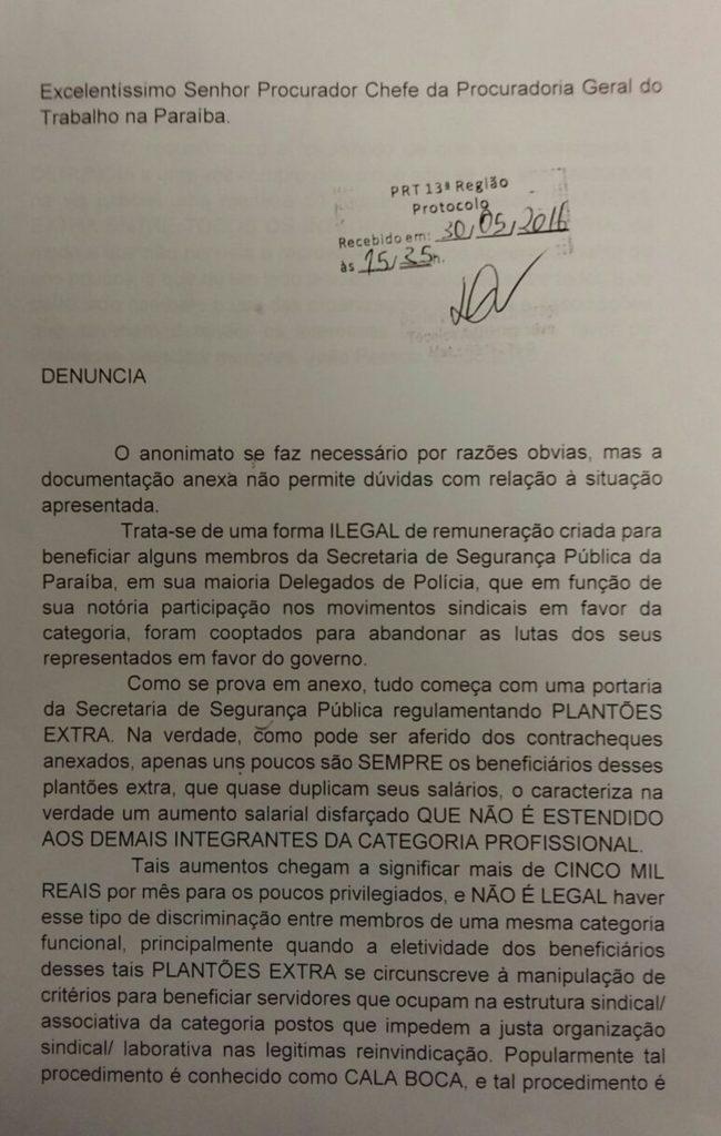 DENÚNCIA AO MP X POLÍCIA 2