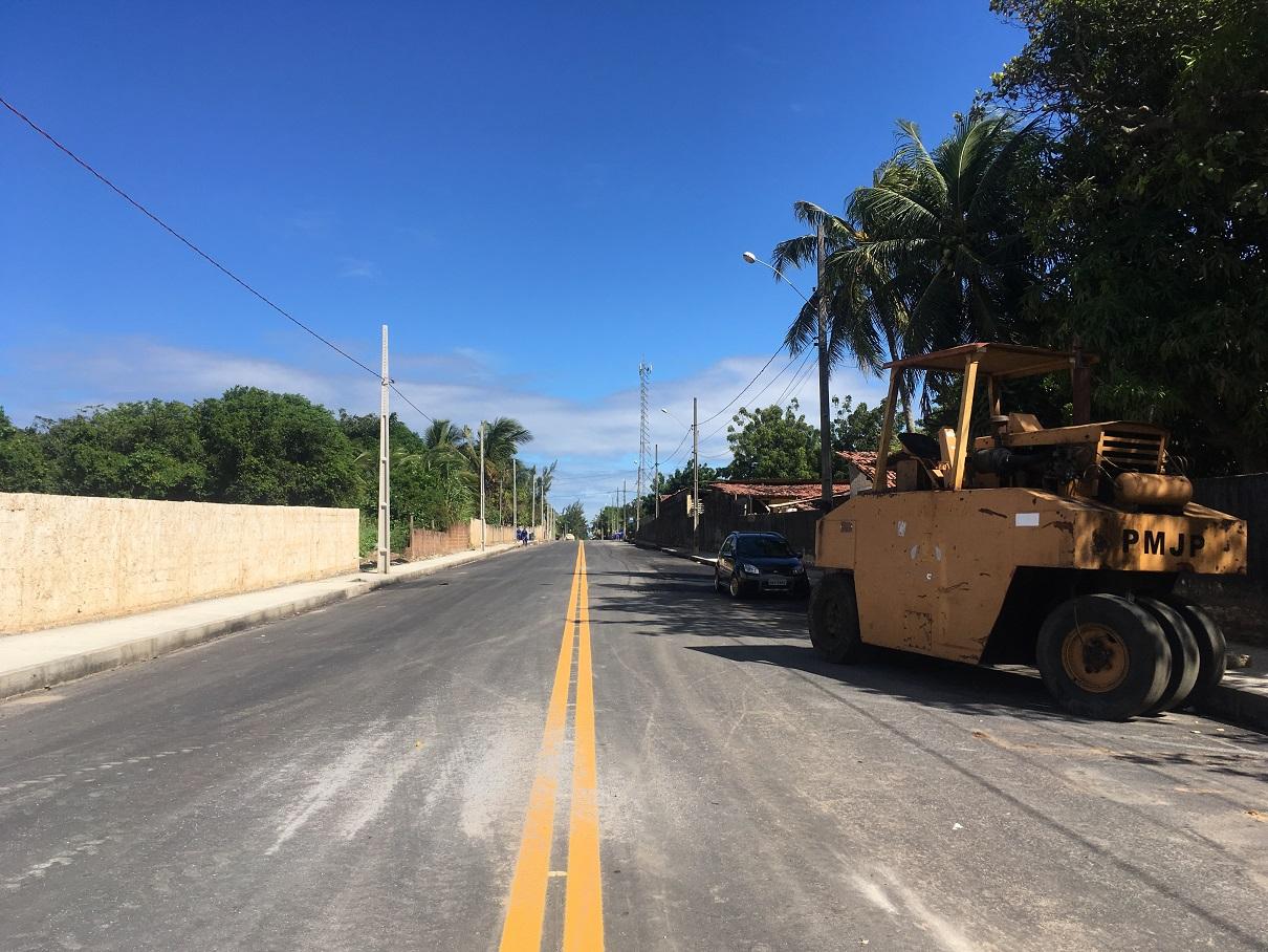 A rua Luzinete Formiga, já asfaltada e pronta para uso
