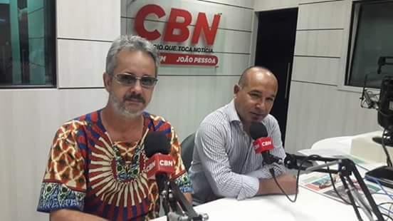 Jefferson Palmeira e Padre Júnior, na CBN João Pessoa