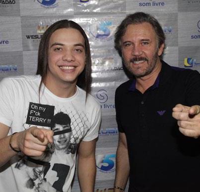Wesley Safadão e Luiz Augusto (foto: forrozaonet.blogspot.com)