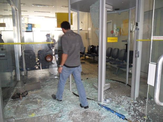 Assalto a uma agência do Banco do Brasil na Paraíba (Foto: jornaldaparaiba.com.br)