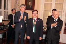 Herman Benjamin recebeu homenagem no Palácio da Redenção no último dia 11 (Foto; SecomPB)