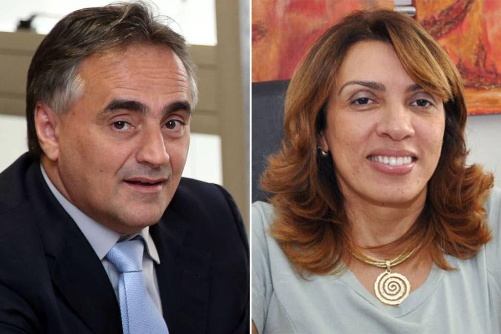 Luciano Cartaxo e Cida Ramos (Fotomontagem: Veja)