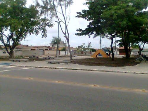 A praça do Geisel revitalizada pelos moradores (Foto: Divulgação)