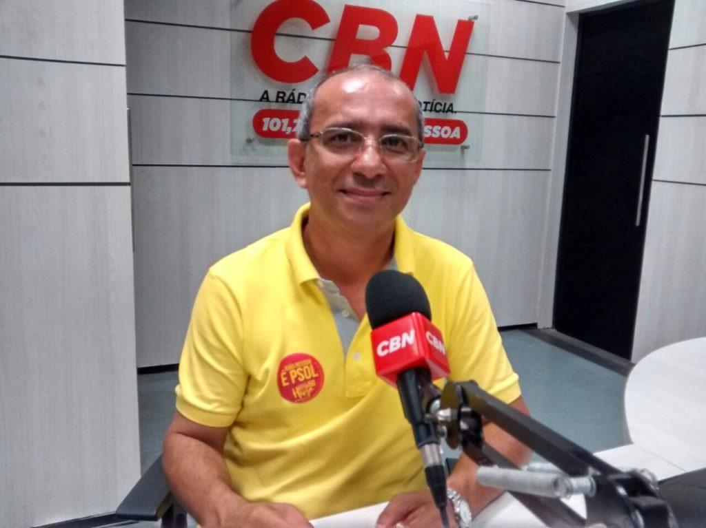 Victor Hugo, do Psol, na CBN João Pessoa (Foto: CBN/JP)