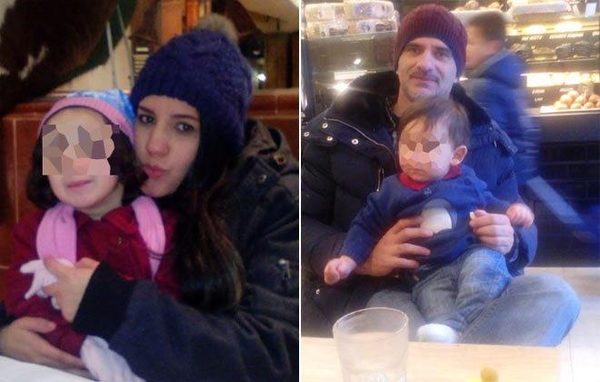 Janaína e Marcos com os filhos (Foto republicada de El Mundo)