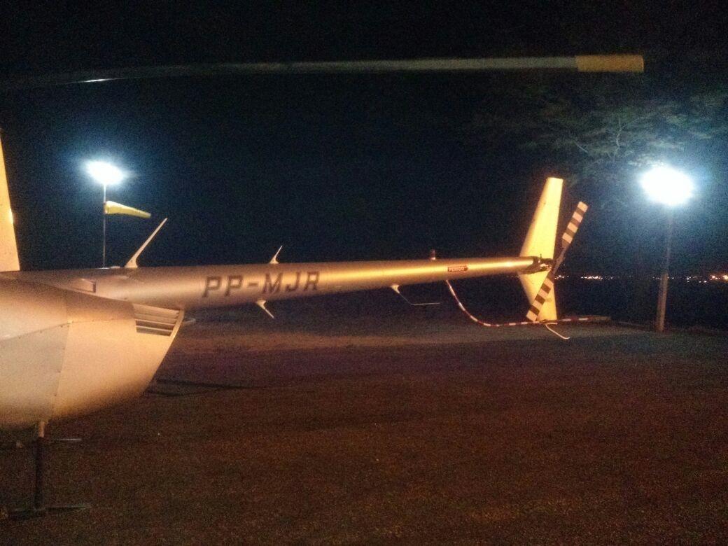 Helicóptero que faria uma 'panfletagem aérea' em São Bento