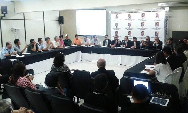 Reunião do Comitê Gestor da Crise Hídrica realizada hoje em Monteiro (Foto: Ascom/MPPB)