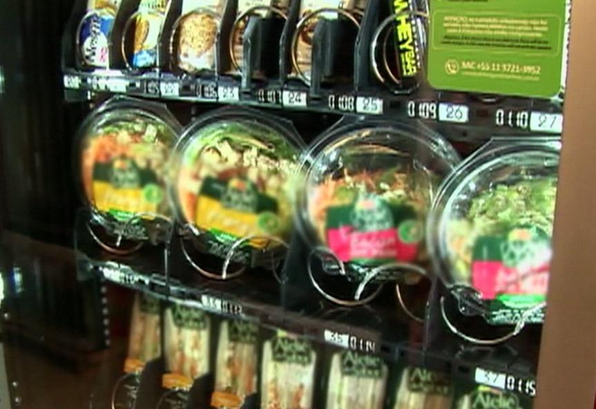 Tem máquina para todos os gostos, até de 'comidas naturais' (Foto: Arquivo/G1)